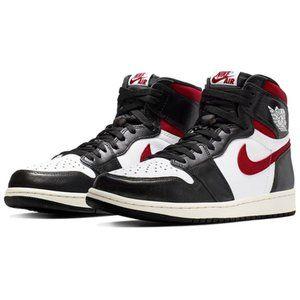 Air Jordan1 Red Hook Black Toe Middle Upper